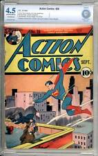 Action Comics # 28 Great Superman cover !  CBCS 4.5 rare Golden Age book !