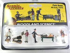 HO Scale Model Railroad Trains Woodland Scenics Park Bum People Figures 1916