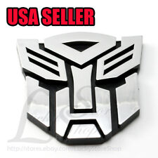 "Medium 3"" 3D LOGO Decal Car Plastic Sticker Transformers Autobot Emblem Badge"