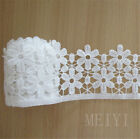 3 Yards White Flower Vintage Style Lace Ribbon Wedding Sewing Bridal Dress Craft
