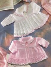 VINTAGE KNITTING PATTERN FOR PRETTY MATINEE COATS FOR PREMATURE BABIES / BABY
