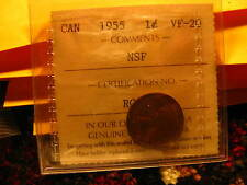 EXTREMELY RARE CANADA 1955 NSF PENNY ICCS COIN ID#T3..
