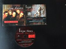 """FINGER ELEVEN 2 SONGS 2 VIDEOS """"FIRST TIME""""+ """"DRAG YOU DOWN"""" PROMO CD BRAND NEW"""