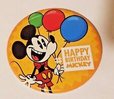 2016 Disney Parks Exclusive Happy Birthday Mickey Button New Very Rare  IN STOCK