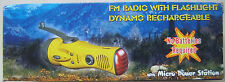 Dynamo Rechargeable Flashlight with FM Radio Emergency Hand Crank
