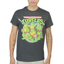 Teenage Mutant Ninja Turtles On Guard! Men's Black T-Shirt NEW Size S