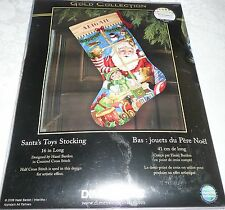 Dimensions Counted Cross Stitch Gold Collection SANTA'S TOYS STOCKING