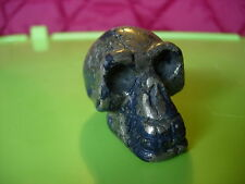 Crystal Skull dumortierite and pyrite small size