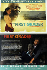 2 X THE FIRST GRADER MOVIE  FILM POSTCARDS - NAOMIE HARRIS OLIVER LITONDO