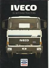 IVECO FORD 25-28 TONNE TRACTORS LORRY TRUCKS SALES BROCHURE 1986