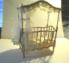 DOLLS HOUSE MINIATURE BABY COT FOR BARBIE DOLL