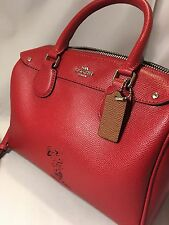 COACH LIMITED EDITION SNOOPY MINI BENNETT SATCHEL CROSSBODY BAG RED F37272