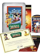 MICKEY'S ONCE UPON A CHRISTMAS DISNEY DVD IN COLLECTIBLE TIN EMBOSSED LE COA NIP