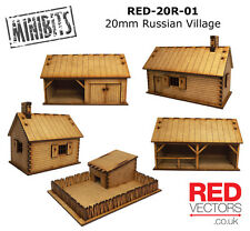 RED-20R-01 - 20mm Wargames - Russian Village (5 buildings)