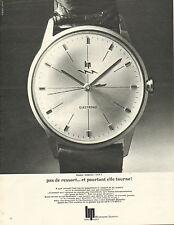 Publicité Advertising 1967  Montre Fred Lip Electronic  ...