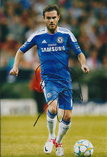 Juan MATA SIGNED Autograph CHELSEA FC 12x8 Photo AFTAL Champions League