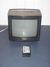 "Panasonic CRT type  portable color TV 10"" screen with remote."