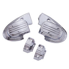 Ciro Chrome Master Cylinder Cover for Harley with Handlebar Mounted Mirrors