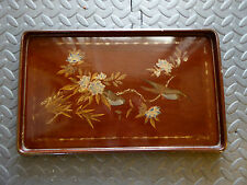 RARE ANTIQUE CHINESE BROWN LACQUER SERVING TRAY BY HIP SON & CO – FOOCHOW