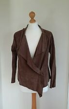 Jigsaw Ladies Waterfall Brown Suede Leather Jacket. UK Size Small-Medium. *VGC*