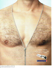 PUBLICITE ADVERTISING 096  2005  Remington tondeuse corps homme