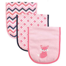 "LUVABLE FRIENDS BABY GIRLS ""FOXY"" BURB CLOTH SET OF 3 NEW"