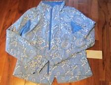 LULULEMON TRAVEL TO TRACK JACKET NWT BEACHY FLORAL BLUE PORCELAIN SIZE 8