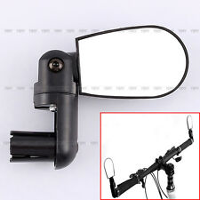 360° ROTATE FLEXIBLE BIKE BICYCLE CYCLING REARVIEW HANDLEBAR END MIRRORS BLACK