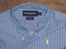 !!MEN RALPH LAUREN CLASSIC OXFORD GOLF POLO SHIRT LARGE VERY NICE!!!