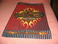 HARLEY DAVIDSON BEACH/BATH TOWEL-NICE GRAPHICS-VERY GOOD CONDITION-GREAT GIFT!
