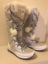NIKE 333620 WOMENS BOOTS WINTER SNOW POM POM white 15.5 in high boot size 9 L@@K