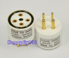 1x  B4 (PX25) PX4 tube to UX4 (300B) tube *teflon* socket adapter converter