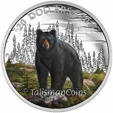 Canada 2017 Majestic Iconic Animals #5 Bold Black Bear $20 Silver Wildlife Proof