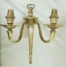 Antique / Vintage Brass/Bronze DOUBLE Candle Wall Light Sconce