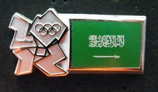 LONDON 2012 Olympic SAUDI ARABIA flag  pin