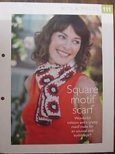 Square Motif Scarf Pattern The Art of Crochet Magazine