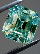1.74ct VVS1/GREEN BLUE COLOR LOOSE EMERALD REAL MOISSANITE FOR RING/PENDANT