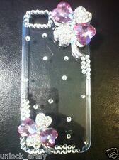 3D St. Patrick's Pink Hearts Swarovski Crystal Bling Case Handmade iPhone 5 5S