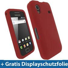 Rot Silikon Tasche für Samsung Galaxy Ace S5830 Hülle Case Skin