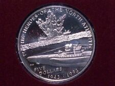 1993 Marshall Islands The Heroes of the North Atlantic Five Dollar Proof!