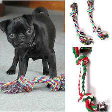 1x Fun Puppy Dog Pet Tug War Spielen Cotton Rope-Kauen-Spielzeug mit Knot