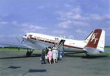 Executive Air Transport Douglas DC-3 G-ANEG at Burnaston Derby Airfield Postcard