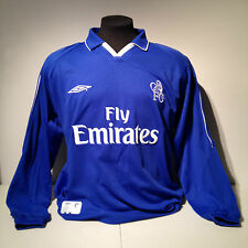 Umbro CFC Chelsea FC Football Club Soccer Home Jersey Blue Large Kit Long Sleeve