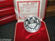 12th South East Asia SEA Games $5 Silver Proof 1983