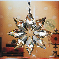 Champagne Snowflake Crystal Ornament Pendant Xmas Decor Wedding Gift Suncatcher