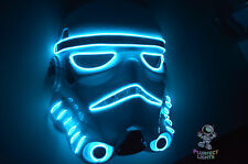 Star Wars Stormtrooper Force Awakens EDCTicketsCostume Rave Party Neon BLUE Mask