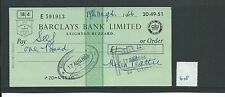 wbc. - CHEQUE - CH678 -  USED -1966 - BARCLAYS, LEIGHTON BUZZARD