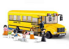 Sluban Large Yellow School Bus. LEGO compatible. B0506 Minifigures inlcuded