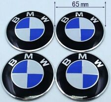 4pcs 65mm Wheel Center Hub Caps Emblem Blue/White Badge Decals Stickers For BMW