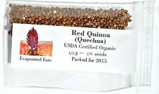 175 USDA Organic Red Quinoa Grain Sprouting Seed Non GMO Freshly Packed For 2016
